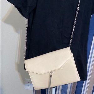 Express  Tan Beige Leather Crossbody Bag Purse